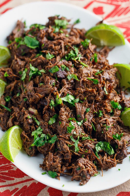 barbacoa tacos on closet cooking