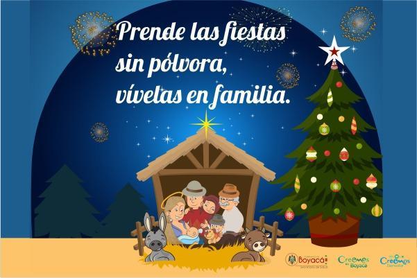Gobernación de Boyacá invita a recibir el Nuevo Año seguros, en familia y sin pólvora