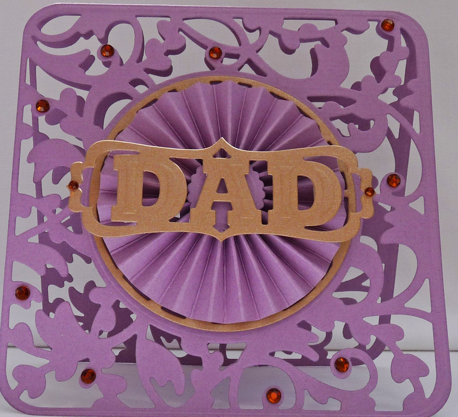 Father's Day Rosette Card