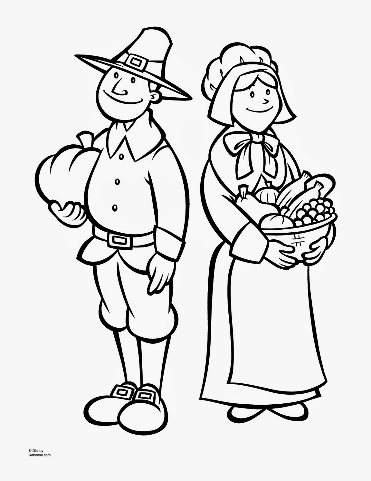 Free Coloring Pages Of Cute Pilgrims Pilgrim Coloring Pages Printable
