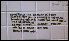 And Sometimes, Bathroom Stall Poetry Is Weird And Disgusting.