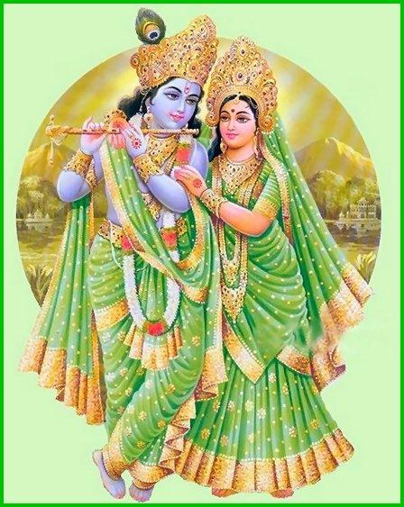 Lord Krishna & Bhama