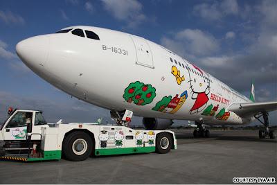 Hello Kitty Eva Airways Plane