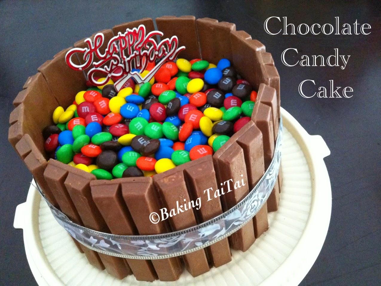 Baking taitai chocolate candy theme cake 1