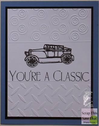 White Dry Embossed Car Card