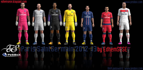 PES 2013 Kits PSG 2012/13 by Edhem SESE