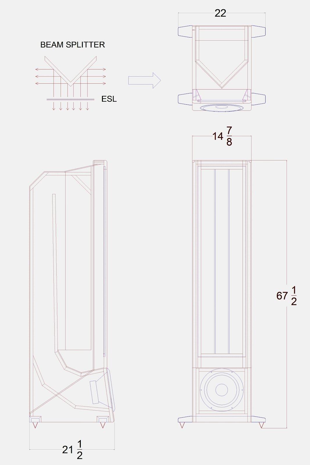 Beam-Splitter Transmission Line Cabinet  sc 1 st  Jazzman\u0027s DIY Electrostatic Loudspeaker Page & Jazzman\u0027s DIY Electrostatic Loudspeaker Page: Beam-Splitter ...