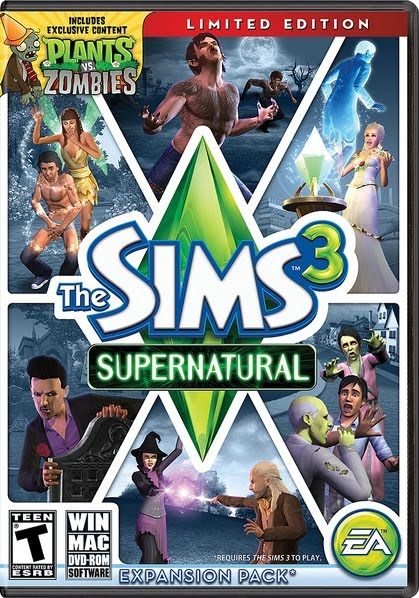 download Jogo The Sims 3 Sobrenatural PC poster capa dvd