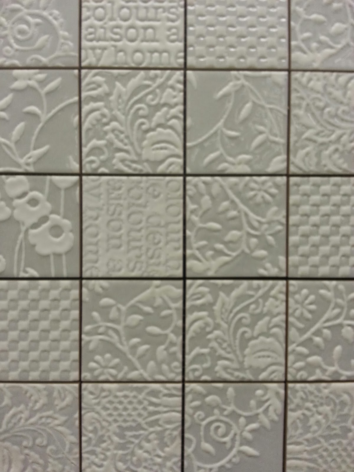 To da loos: New tile alert: Patterned patchwork wall tiles