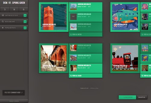Flat Green Blogger Template