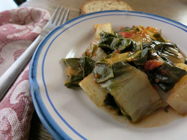 Smothered Greens - Swiss Chard (Vedure Stufate)