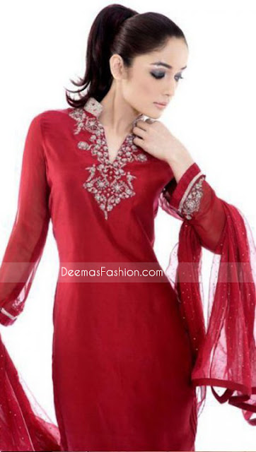 Red deep chiffon shirt