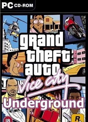 GTA Vice City Underground Game Poster | GTA Vice City Underground Game Cover