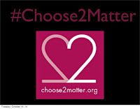 #Choose2Matter logo