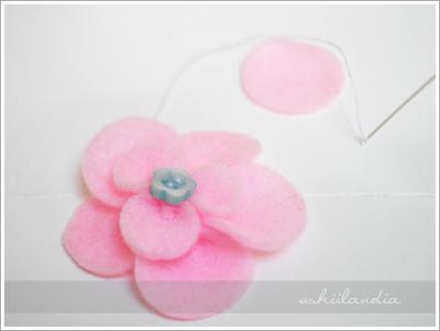 filcowy kwiat - tutorial