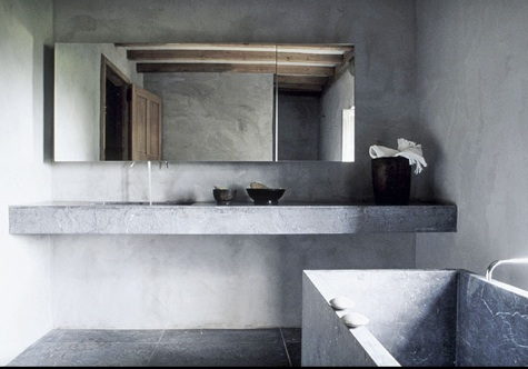 15 ideas dise o de interiores con paredes de concreto u for Closet de concreto para cuartos