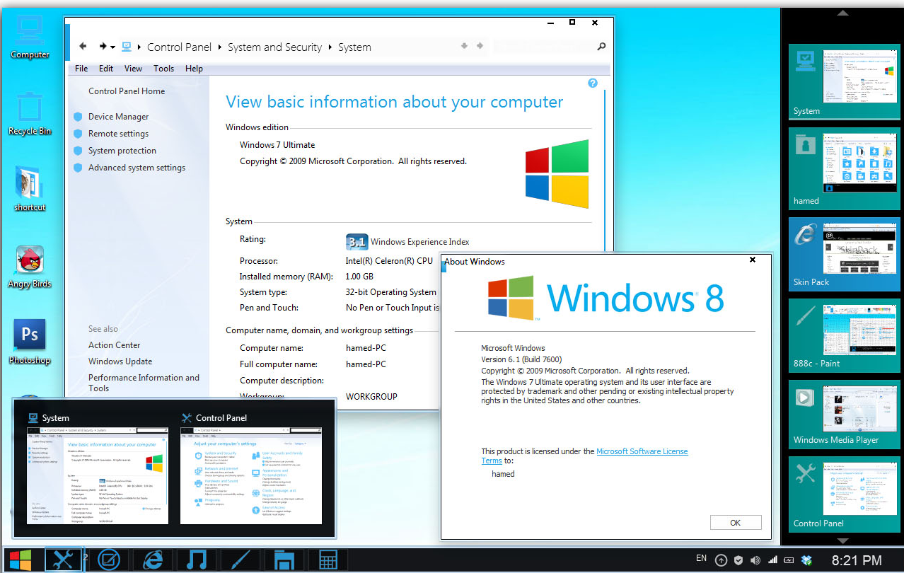 Windows 7 desktop transformation pack v3 for xp