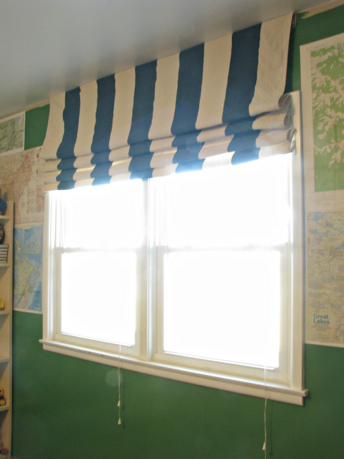 Drop Cloth Curtains Tutorial Beauty 4 Ashes Striped Drop Cloth Curtains