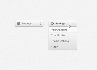 Settings Drop Down Menu (PSD)