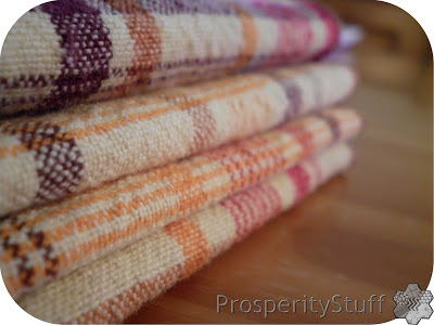 ProsperityStuff reclaimed textiles - tablecloth made into towels