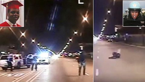 Chilling Video  shows white cop shooting black teen SIXTEEN TIMES