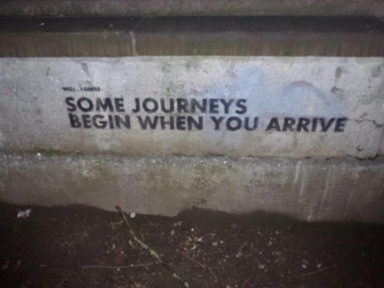 Streetart, Graffiti, Sinnspruch, Lebensweißheiten