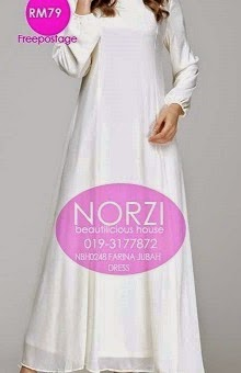 NBH0248 FARINA JUBAH DRESS