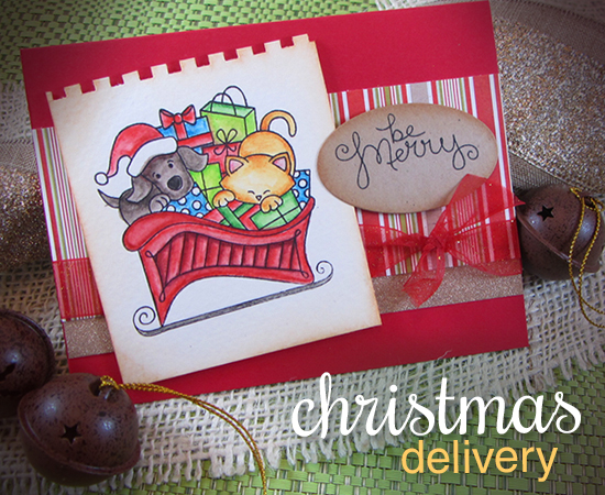 Christmas Delivery Sleigh Stamp set by Newton's Nook Designs - Card by Jennifer Jackson