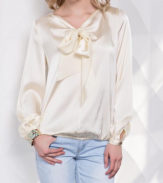 шелковая блузка шампань