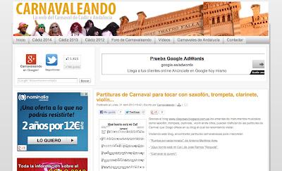 Tocapartituras en Carnavaleando La web del Carnaval de Cádiz y Andalucía