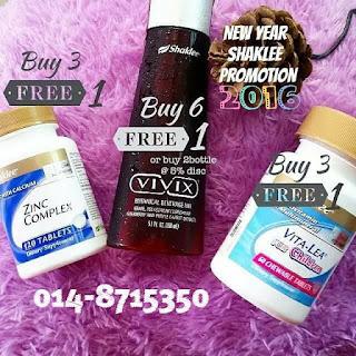 Promosi Shaklee; Jan 2016; New year promotion; produk kesihatan; Shaklee Balik Pulau; Shaklee Labuan; Shaklee Kudat