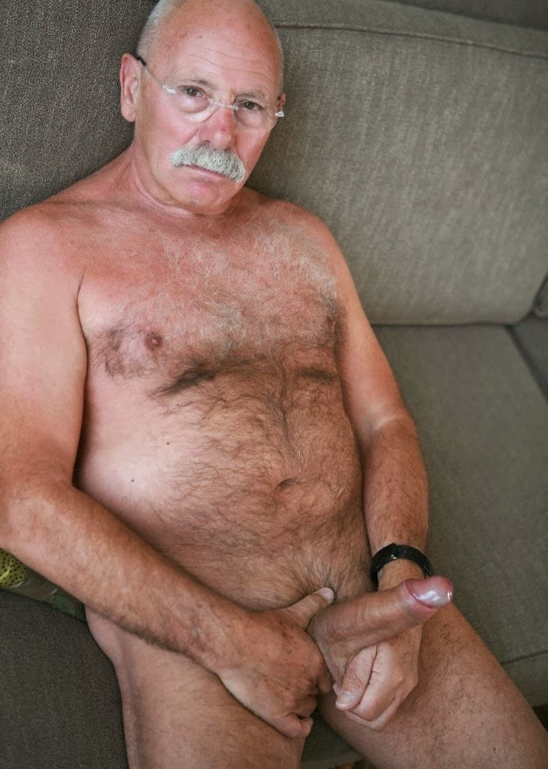 Naked Silver Bear Daddy Nude