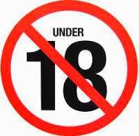 NO ENTRY UNDER 18
