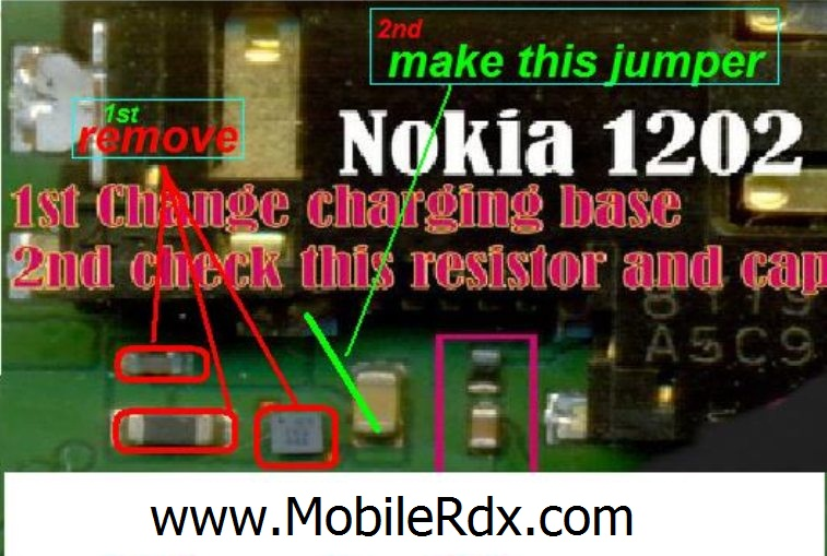 nokia 1202 and nokia 1203 charging problem