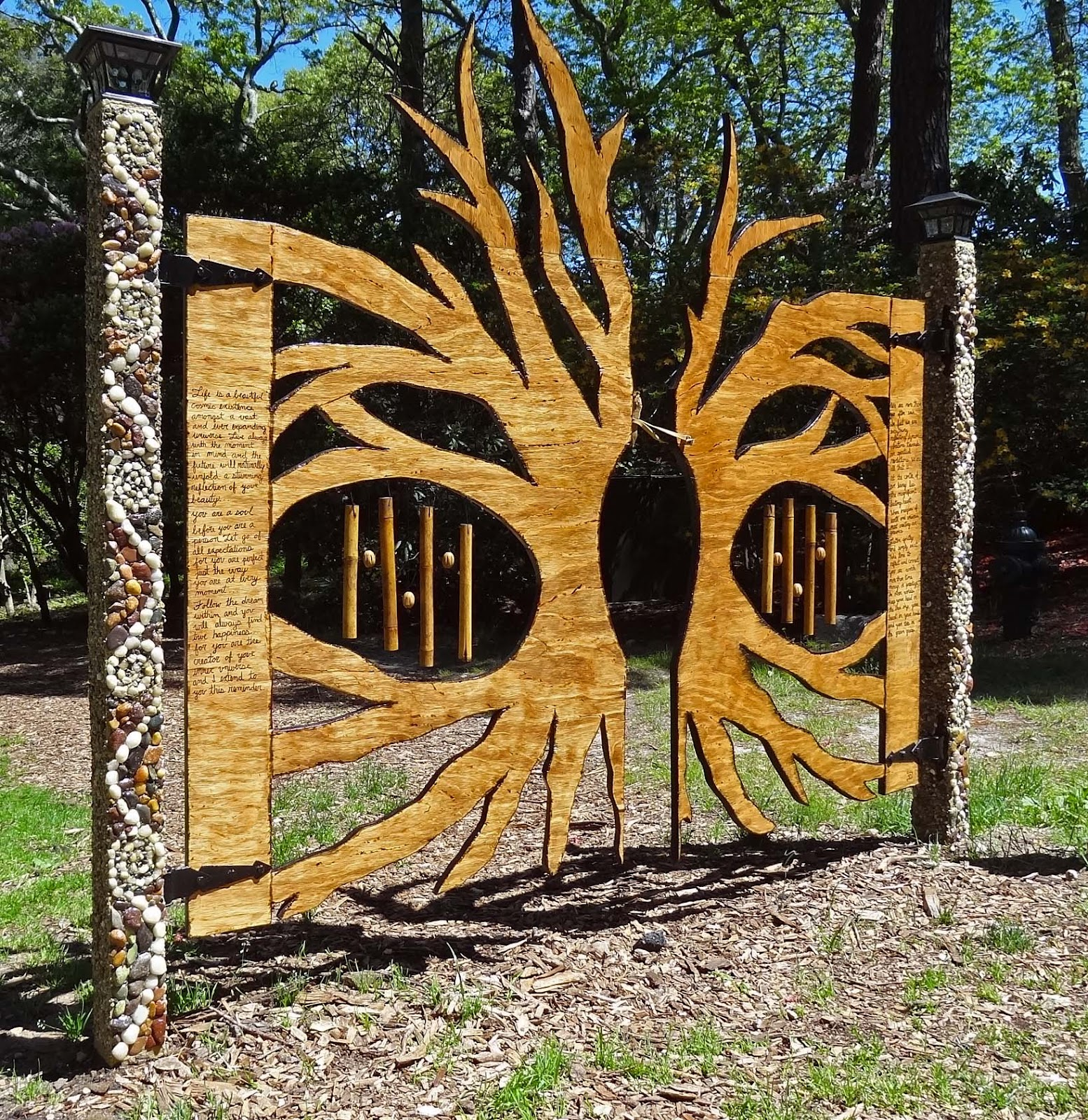 ... A Seasonal Exhibit Of Whimsical Garden Gates. All Are Functional Gates  And Each Was Designed And Constructed By A Different Artist. Pretty Cool  Designs.