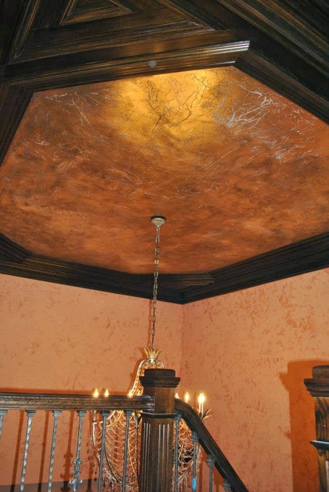 Gold foil ceiling