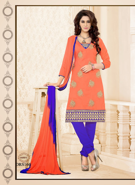 New Arrival Chanderi Cotton Churidar Dress Material