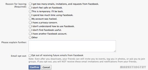 Cara Nonaktifkan atau Menghapus Akun Facebook