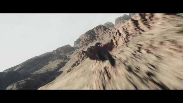 Man Of Steel Superman Flies Over canyons