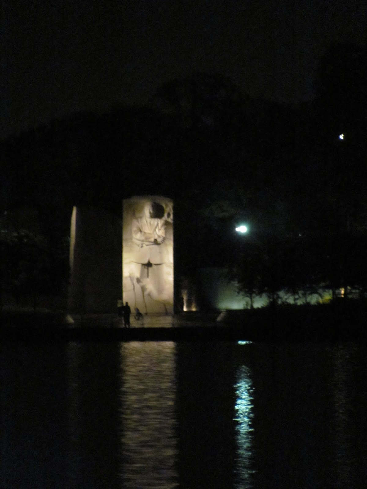 Pictured at night from across the tidal basin in Washington, DC