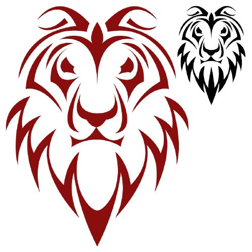 Морда льва тату