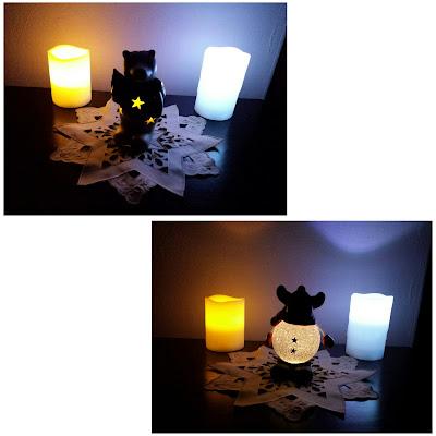 weihnachtliche Figuren, die leuchten