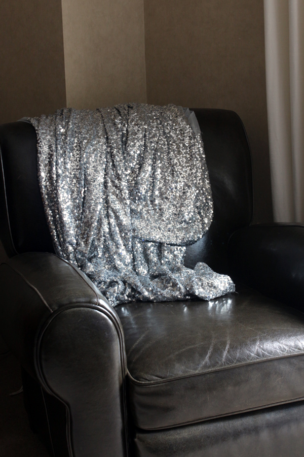 Bromeliad My DIY Sequin Throw Fashion And Home Decor DIY And Adorable Silver Sequin Throw Blanket
