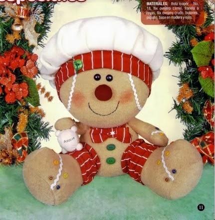 Moldes boneco Ginger natalino