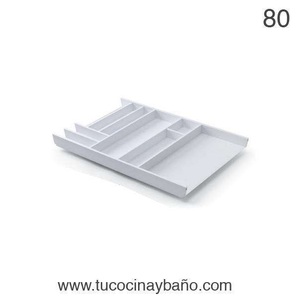 cubertero cajon cocina 80 blanco
