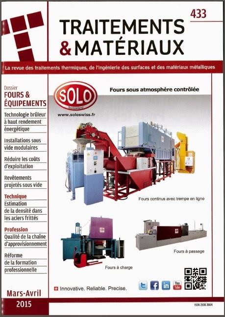 SOLO Swiss - Traitements & Matériaux - Avril 2015