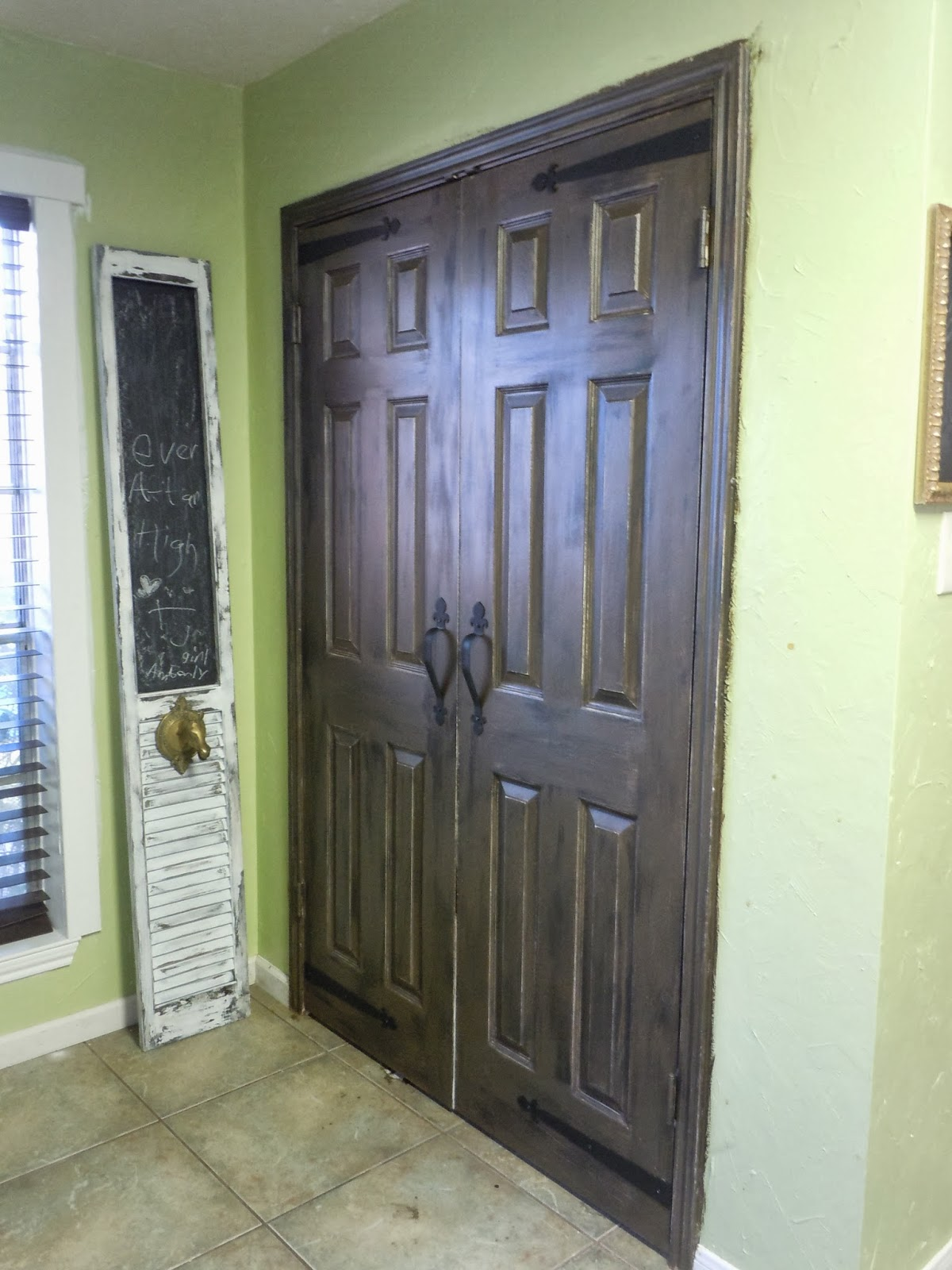 Faux Barn Door Made To Love Faux Barnwood Pantry Doors