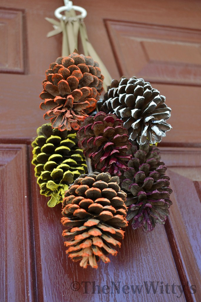 DIY Pinecone Door Wreath Tutorial