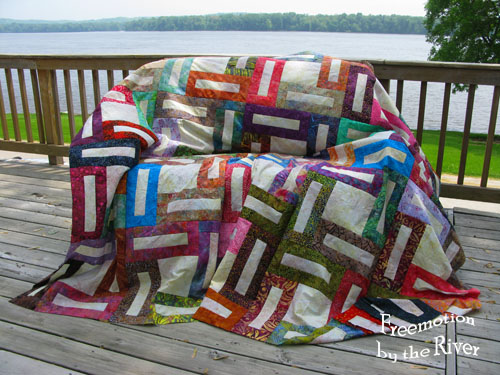 Batik quilt top at Freemotion by the River