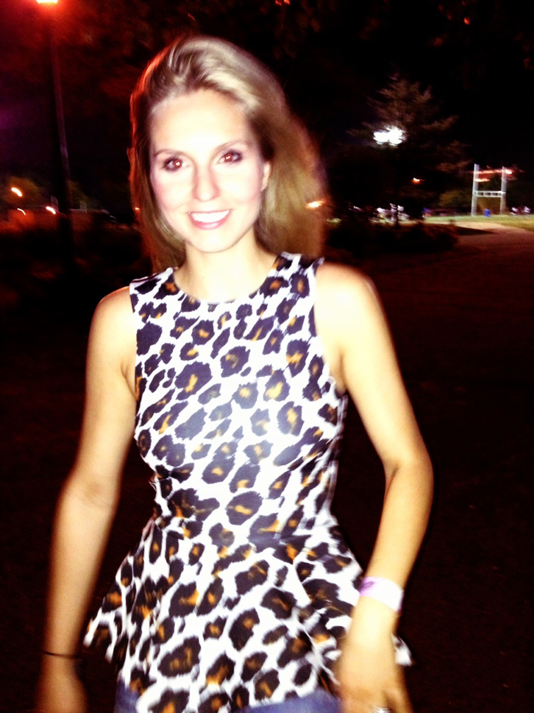 Leopard Print Peplum Top H&M Trend Stella